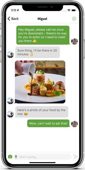 Mobile App Development with chat options